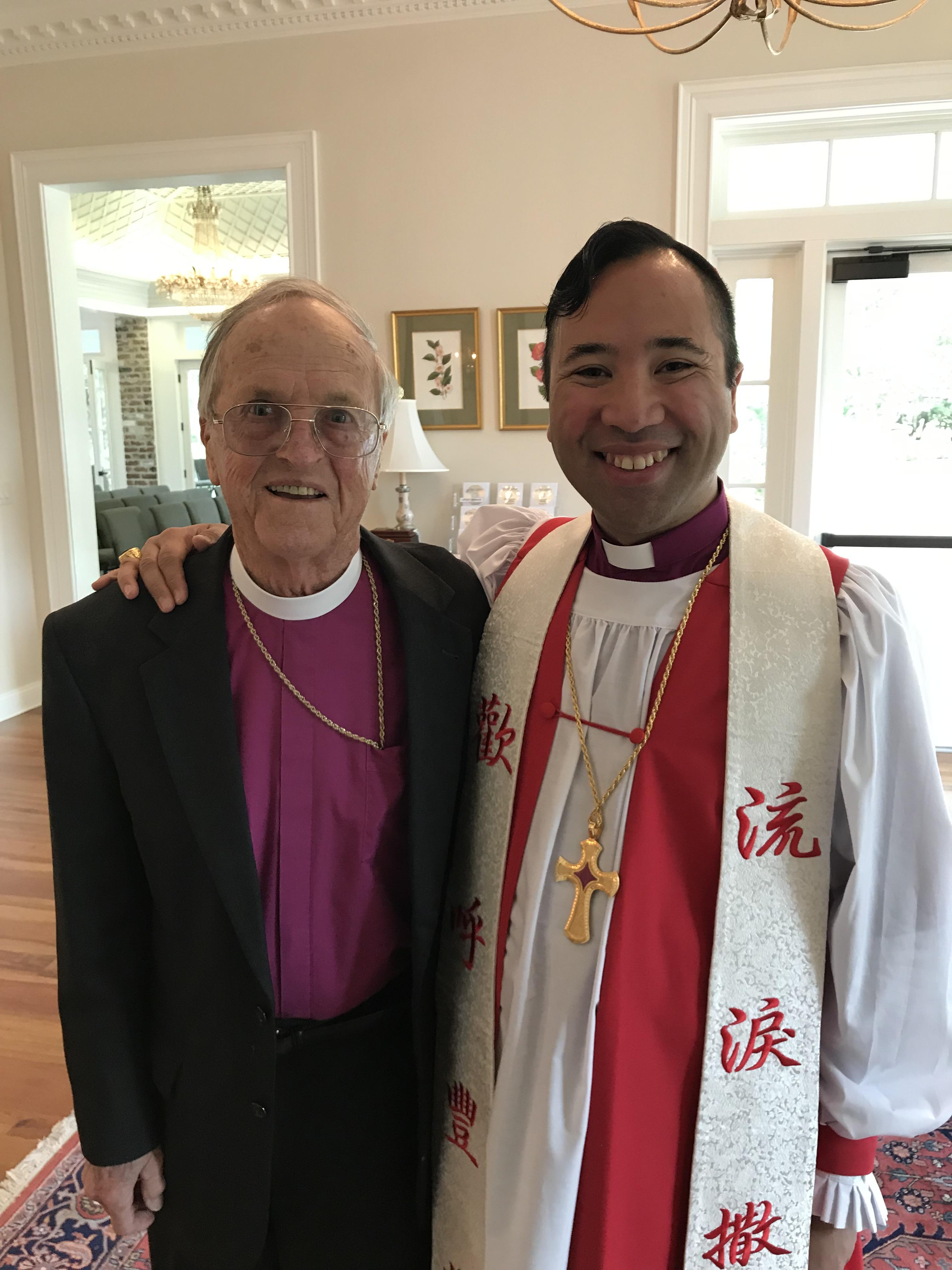 Bishop Lumanog and Bishop Fitzsimons Allison